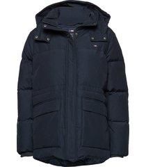 emma down jacket parka lange jas jas blauw lexington clothing