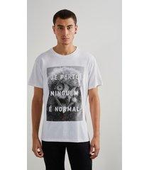 camiseta estampada normal reserva branco. - branco - masculino - dafiti