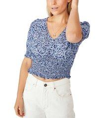 cotton on puff sleeve tea blouse
