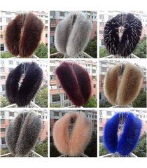 fashion fox fur collar faux fur scarf winter women shawl wrap cape 90 cm