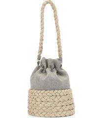 0711 large freja bucket bag - grey