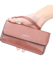 portafoglio donna con patta lunga e lunga borsa frizione borsa