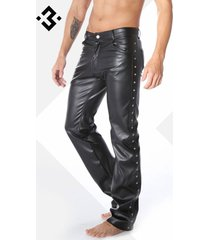 code8 by xxx collection zwart leren heren broek 5-pocket