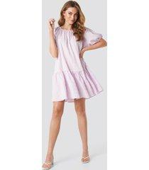 na-kd trend structured tiered mini dress - purple
