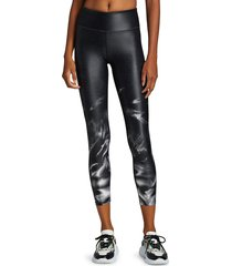 monrow women's smoke cropped leggings - black - size s