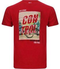 camiseta hombre control color rojo, talla l