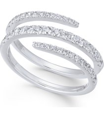 diamond wrap statement ring (5/8 ct. t.w) in 14k white gold