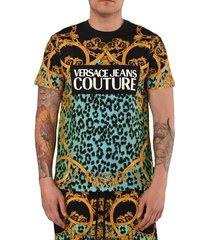 couture t-shirt leopardata barocca