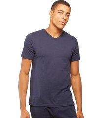 camiseta basicamente básica gola v masculina - masculino