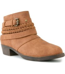 sugar women's tik tock braided ankle booties women's shoes
