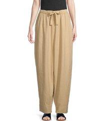free people women's essential double-cloth harem pants - beige - size m