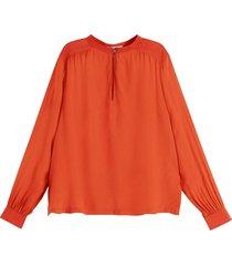 blouse with keyhole oranje