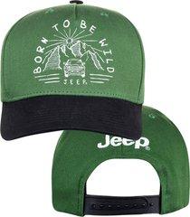 boné jeep born to be wild verde