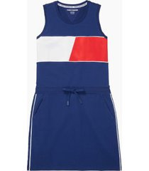 tommy hilfiger women's essential flag tank dress blue - xs