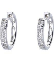 orecchini a cerchio con diamanti 0,14 ct per donna