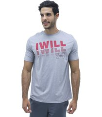 camiseta gris under armour i will ss t