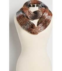 maurices womens brown metallic spacedye infinity scarf
