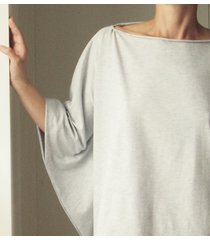 bluzka narzutka szara