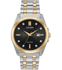 citizen eco-drive men's corso two-tone stainless steel bracelet watch 41mm