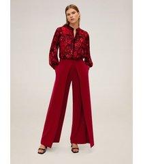 soepelvallende straight-fit broek