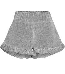 hay velour shorts shorts flowy shorts/casual shorts grå ella&il