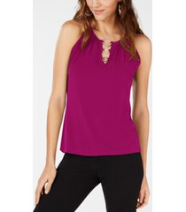 inc petite ring-hardware sleeveless top, created for macy's