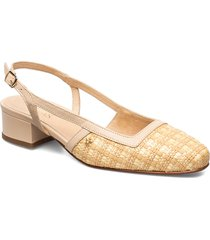 elaine sandal shoes heels pumps sling backs beige morris lady