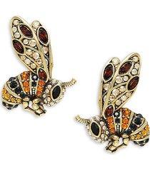 heidi daus women's bee goldtone & crystal earrings