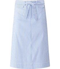 rok in a-lijn streepdessin van basler blauw