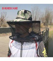 mujeres hombres de ala ancha camuflaje mosquitera pesca exterior sombrero