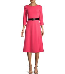 belted fit-&-flare dress