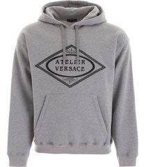 versace printed hoodie