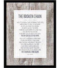 """dexsa broken chain simple expressions wood plaque with easel, 6.5"""" x 8.5"""""""