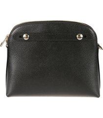 furla top zip detachable strap clutch