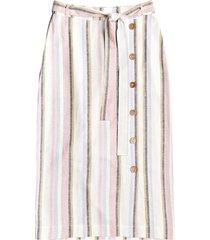 women's roxy lose my breath tie waist midi skirt, size x-small - white