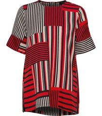 slfmyla-diana 2/4 aop top b blouses short-sleeved rood selected femme