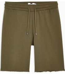 mens khaki long jersey shorts