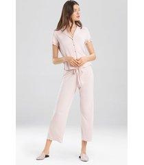 bardot essentials- josie jammie pajamas, women's, pink, size s natori