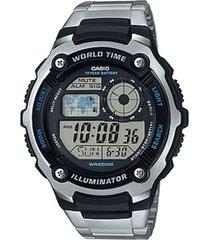reloj ae-2100wd-1a casio plateado