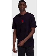 camiseta adidas originals 3d trefoil preta