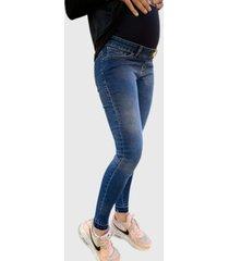 jeans pitillo soft azul madremía