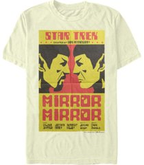 star trek men's the original series spock mirrored image short sleeve t-shirt