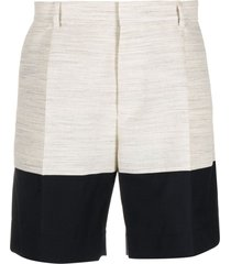 botter two-tone tailored shorts - neutrals