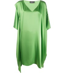 gianluca capannolo loose-fit silk dress - green