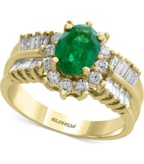 brasilica by effy emerald (1-1/8 ct. t.w.) and diamond (7/8 ct. t.w.) ring in 14k gold