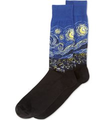 hot sox men's socks, starry night