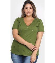 blusa cativa mais com apliação plus size feminina