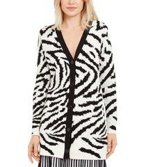 escada zebra-print long cardigan