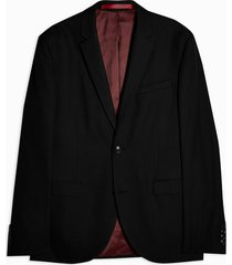 mens black skinny fit suit blazer with notch lapels