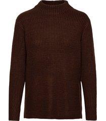 bynora jumper 2 - stickad tröja brun b.young